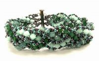 ALL Crystal, Multi-strand Cross-weave Bracelet Making Kit with SWAROVSKI® ELEMENTS Green tones